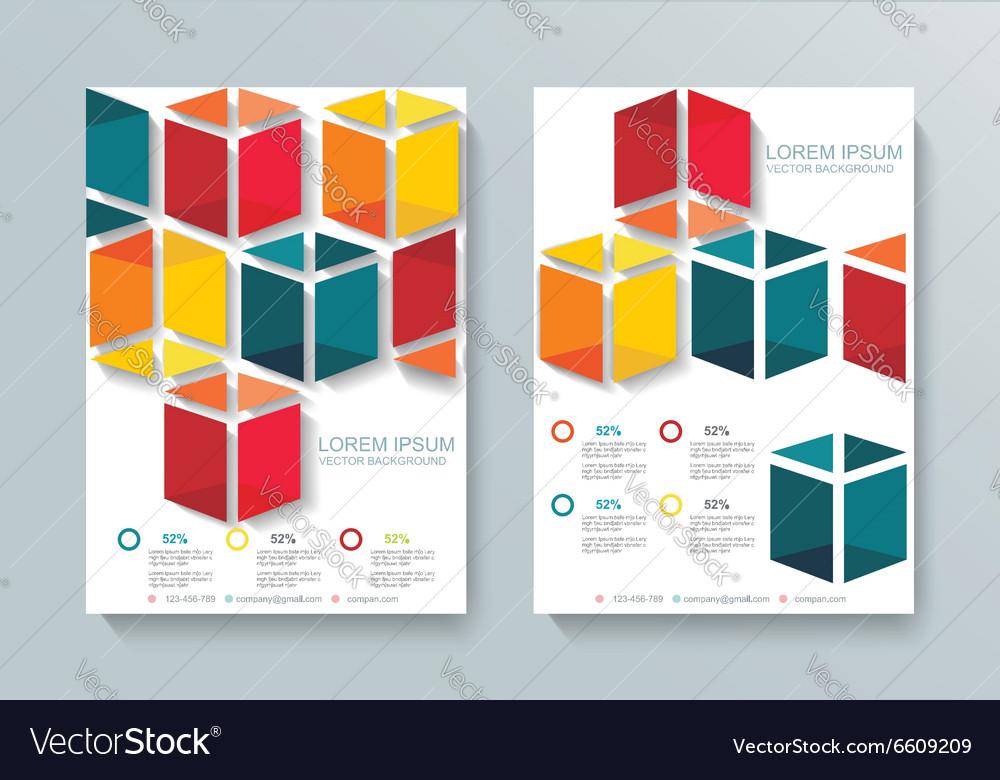Abstract Brochure Flyer cubes design template