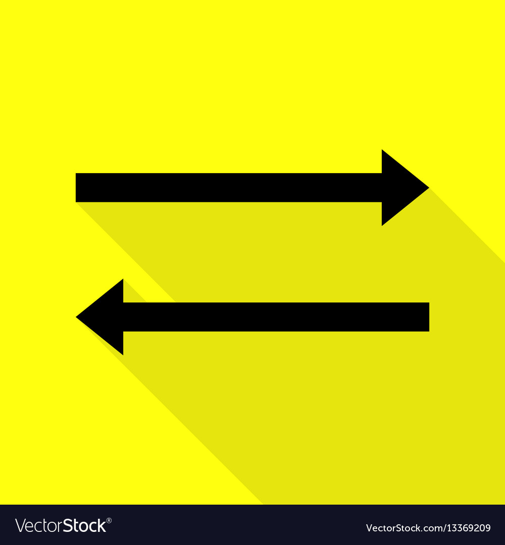Arrow simple sign black icon with flat style