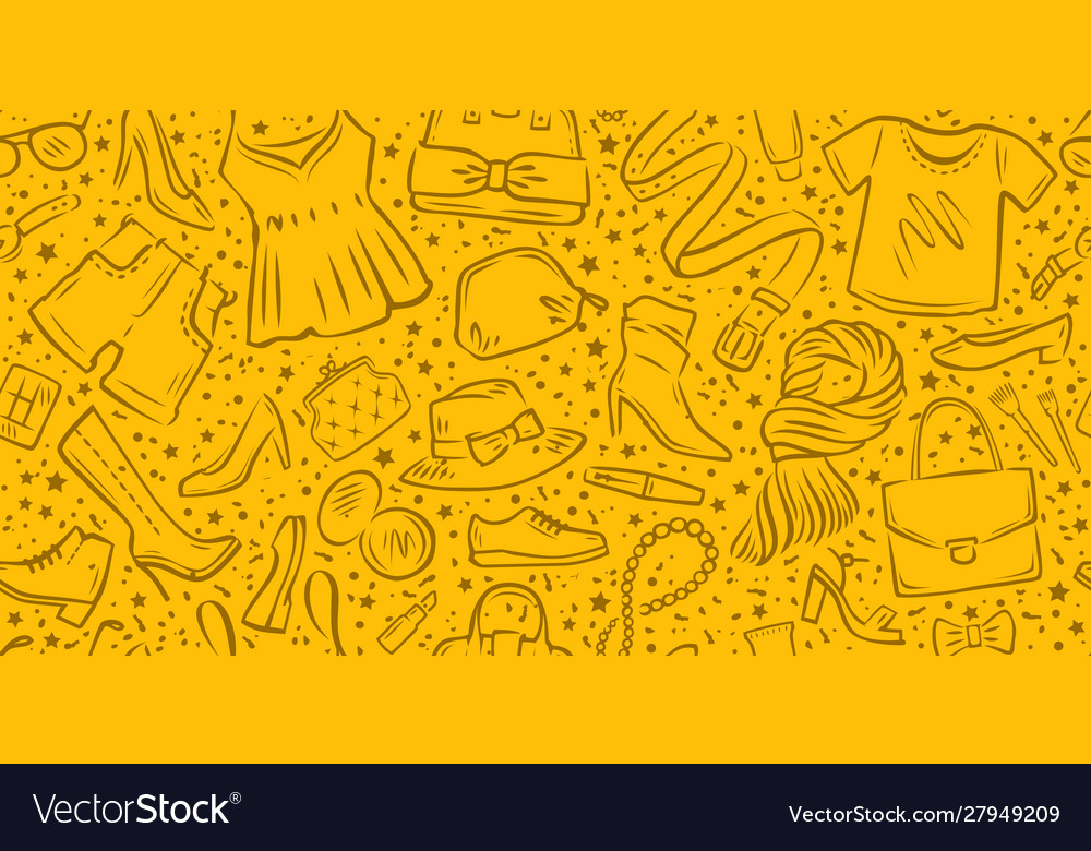 Clothing and accessories background seamless