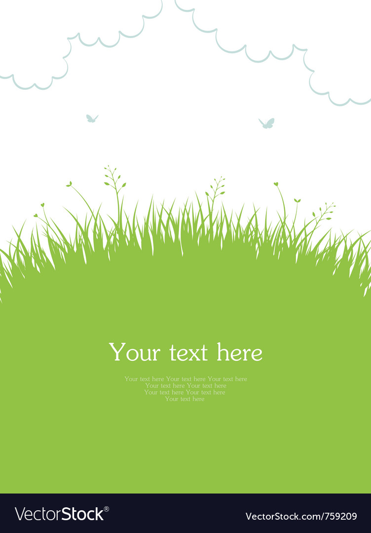 Grass template Royalty Free Vector Image - VectorStock