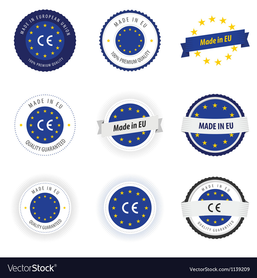 Made in EU labels badges and stickers