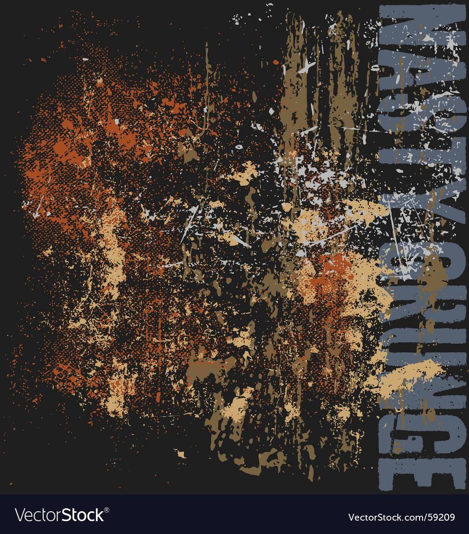 Nasty grunge vector image