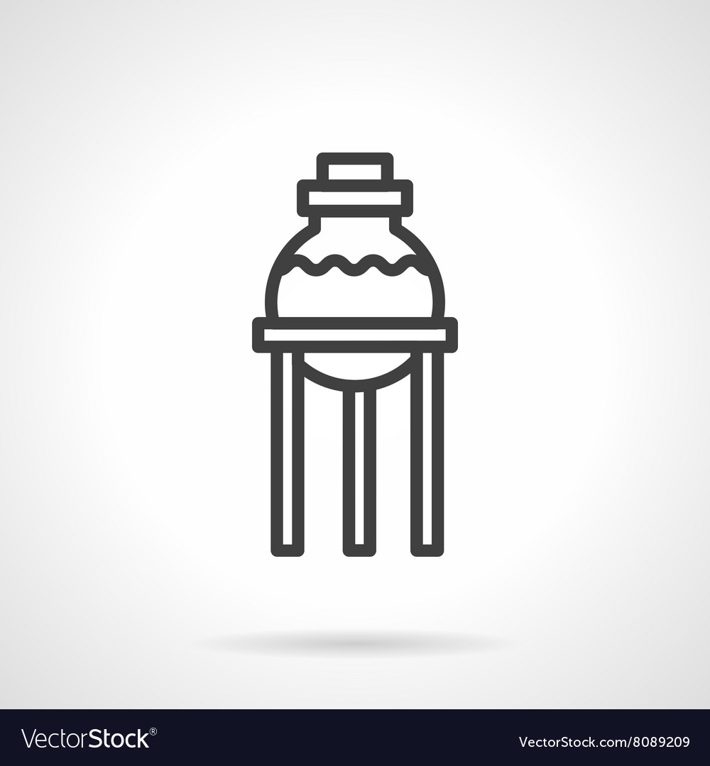 Pharmacy laboratory simple line icon vector image