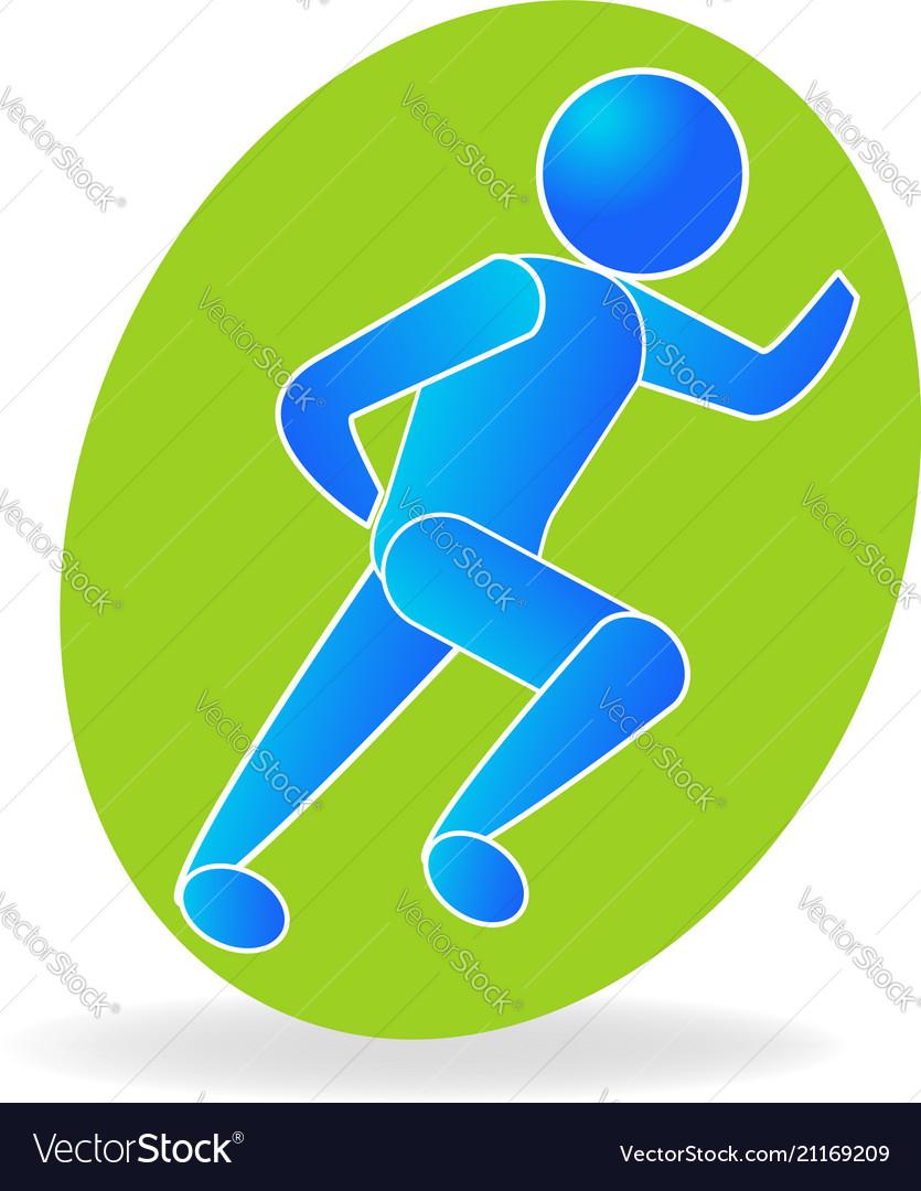 Running man health icon symbol