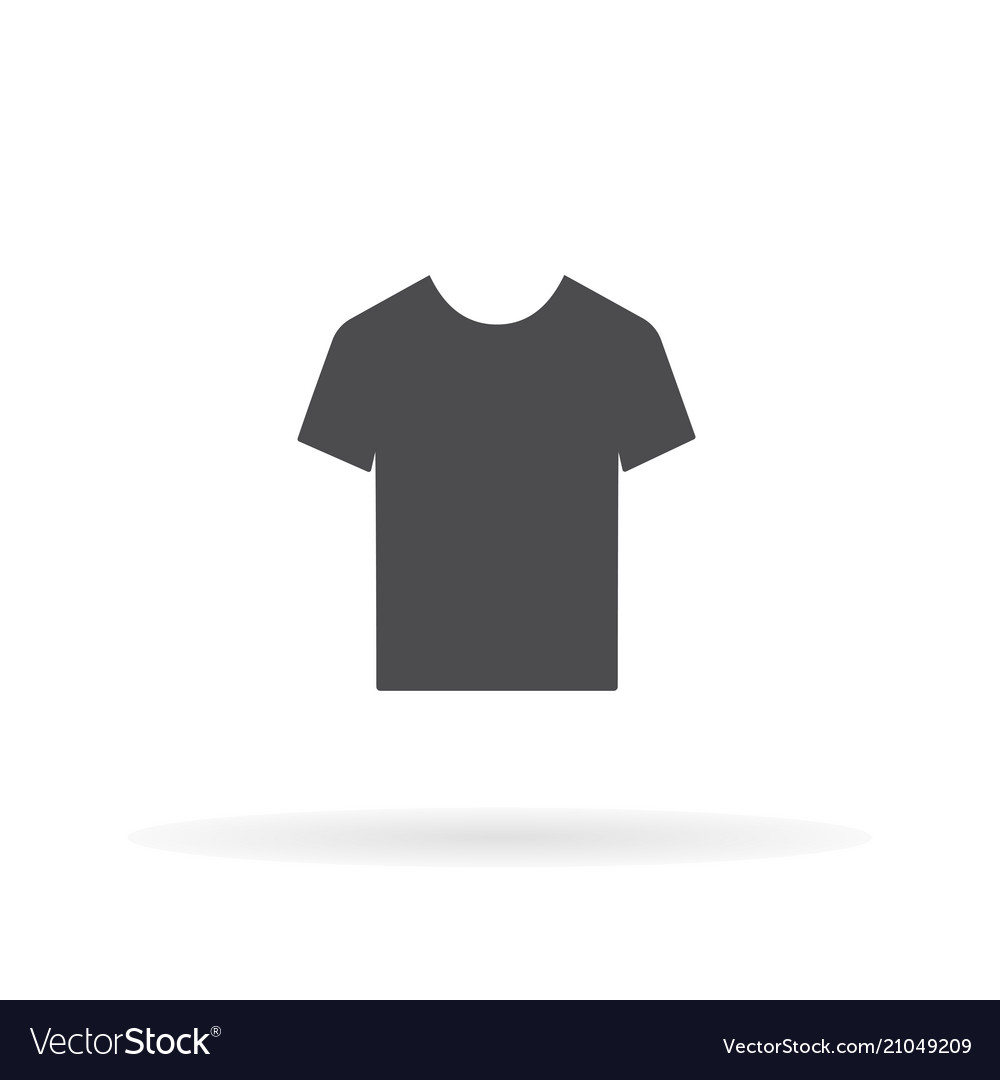 T-shirt icon for web business finance and