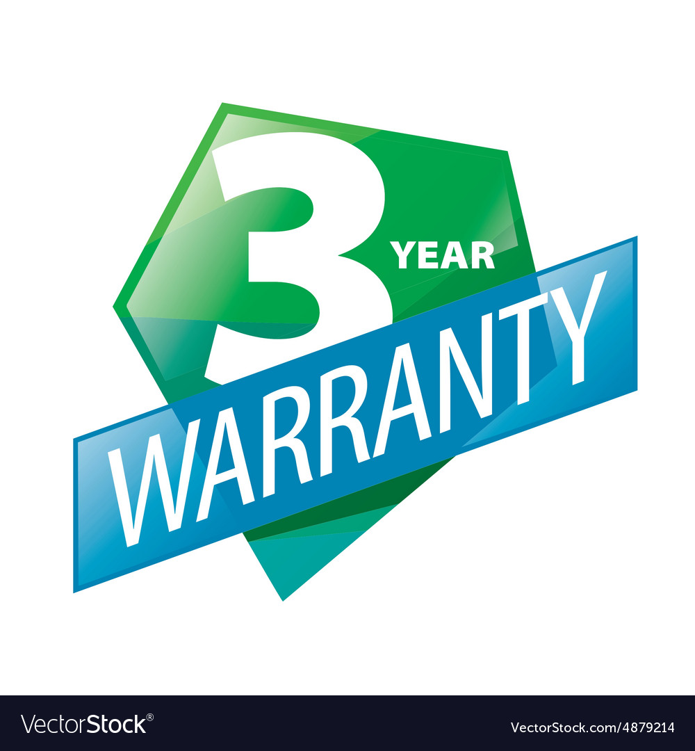 Logo 3 year guarantee in the form of shield