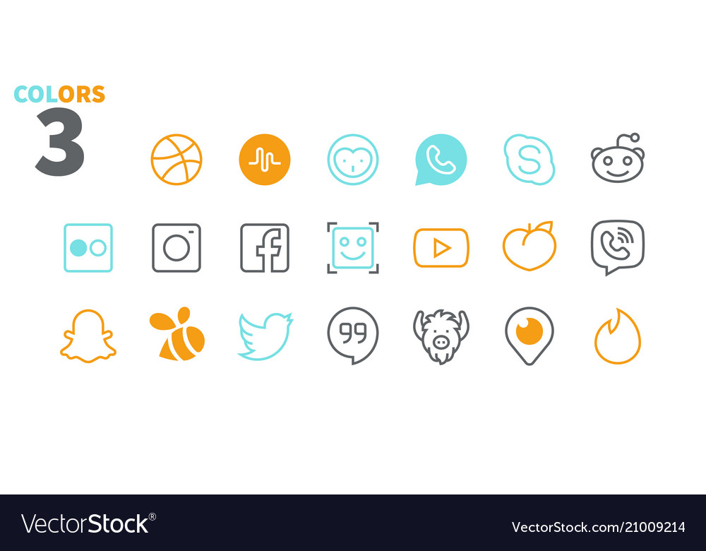 Social media ui pixel perfect well-crafted