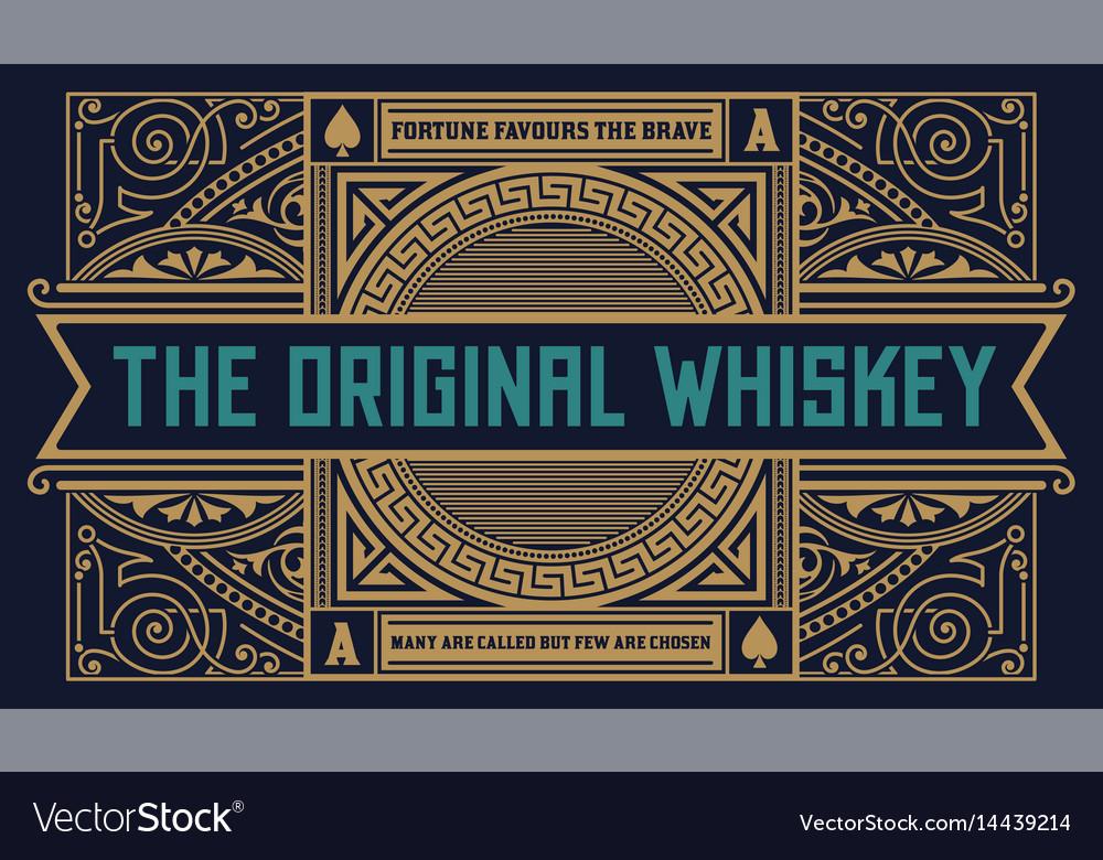 Whiskey label vintage logo western