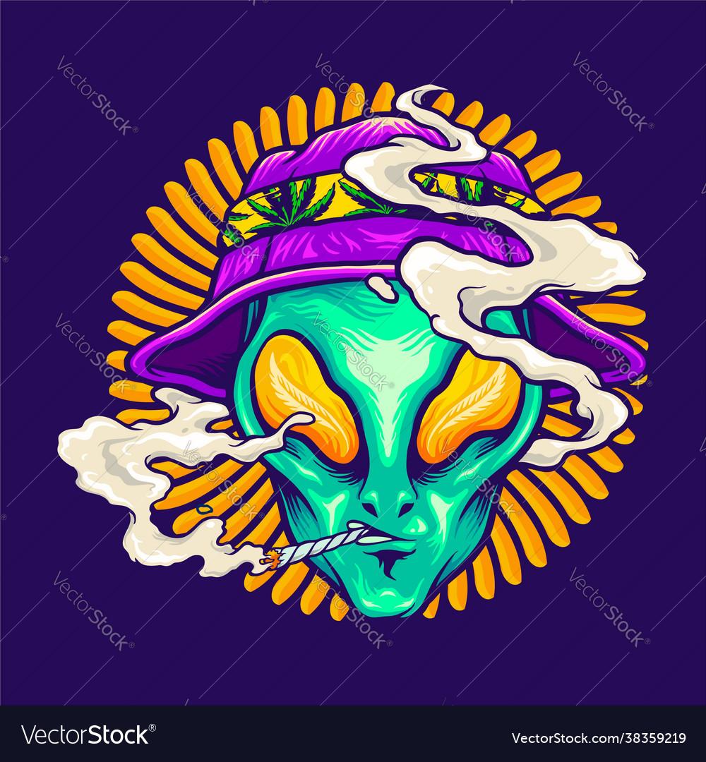 Alien smoking summer holiday