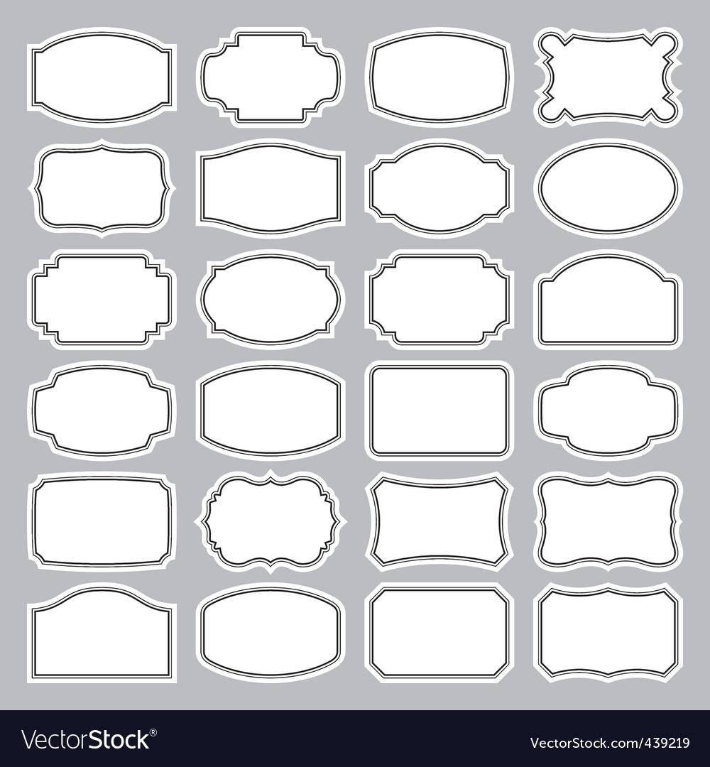 Blank labels set