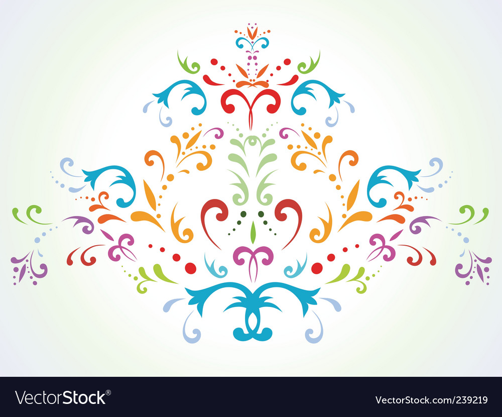 Floral abstract decoration