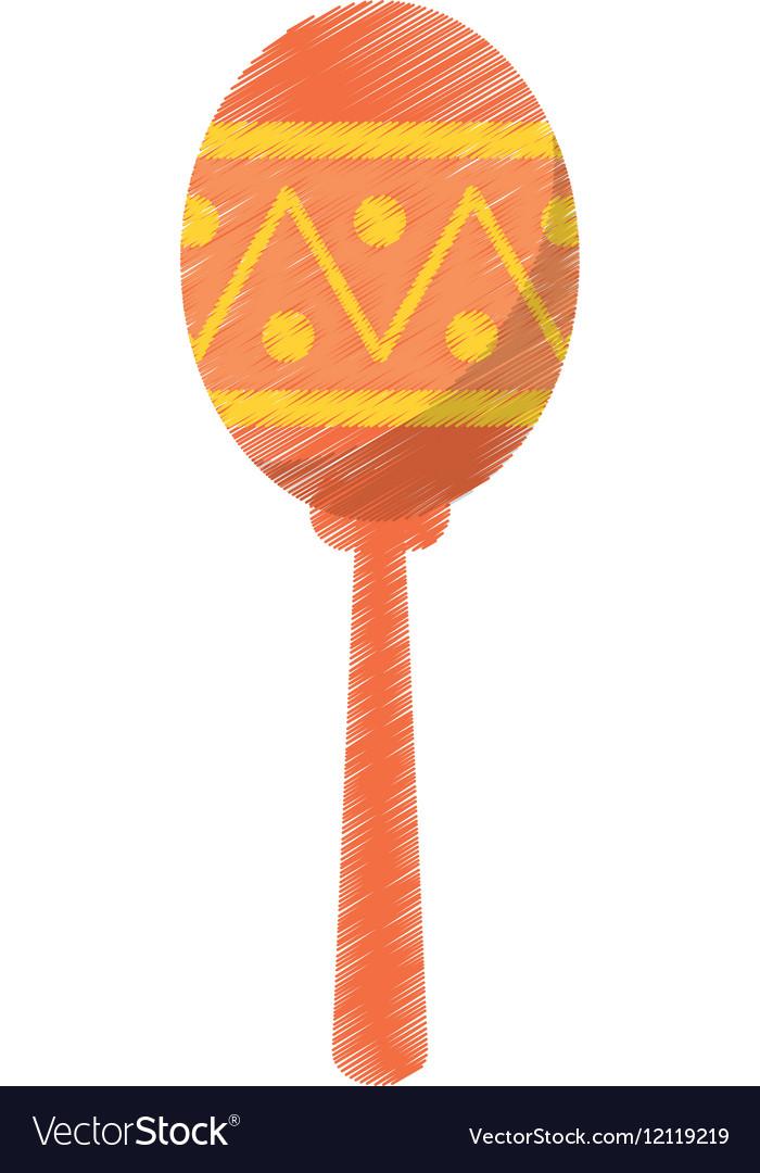 Maracas music instrument brasilian vector image