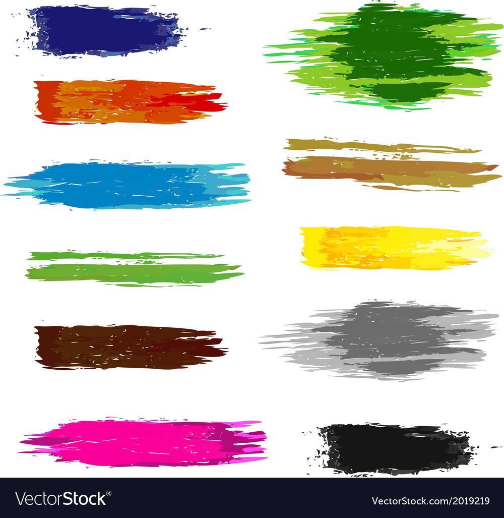Set of artistic brush