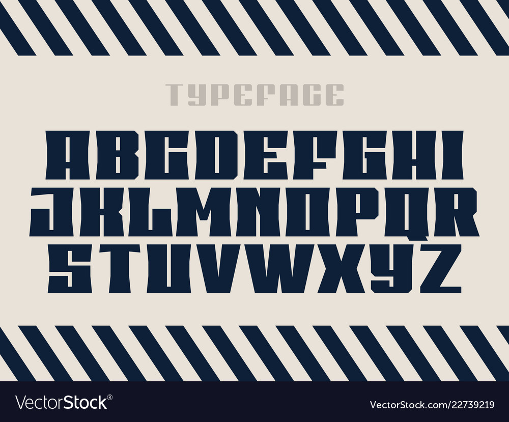 Sport font alphabet with latin letters