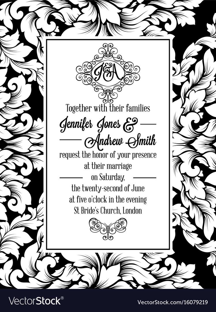 Vintage Delicate Formal Invitation Card