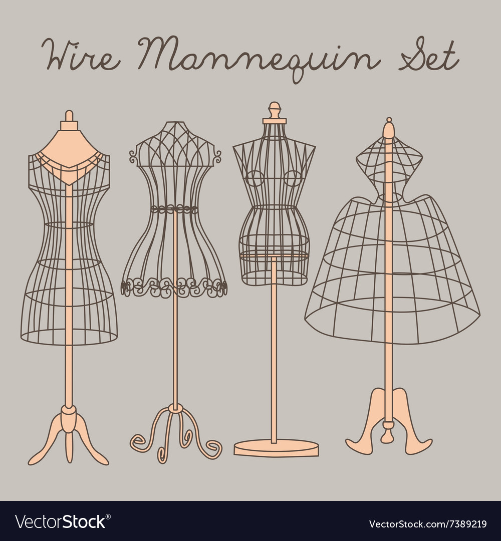 Wire Mannequin Set Royalty Free Vector Image - VectorStock