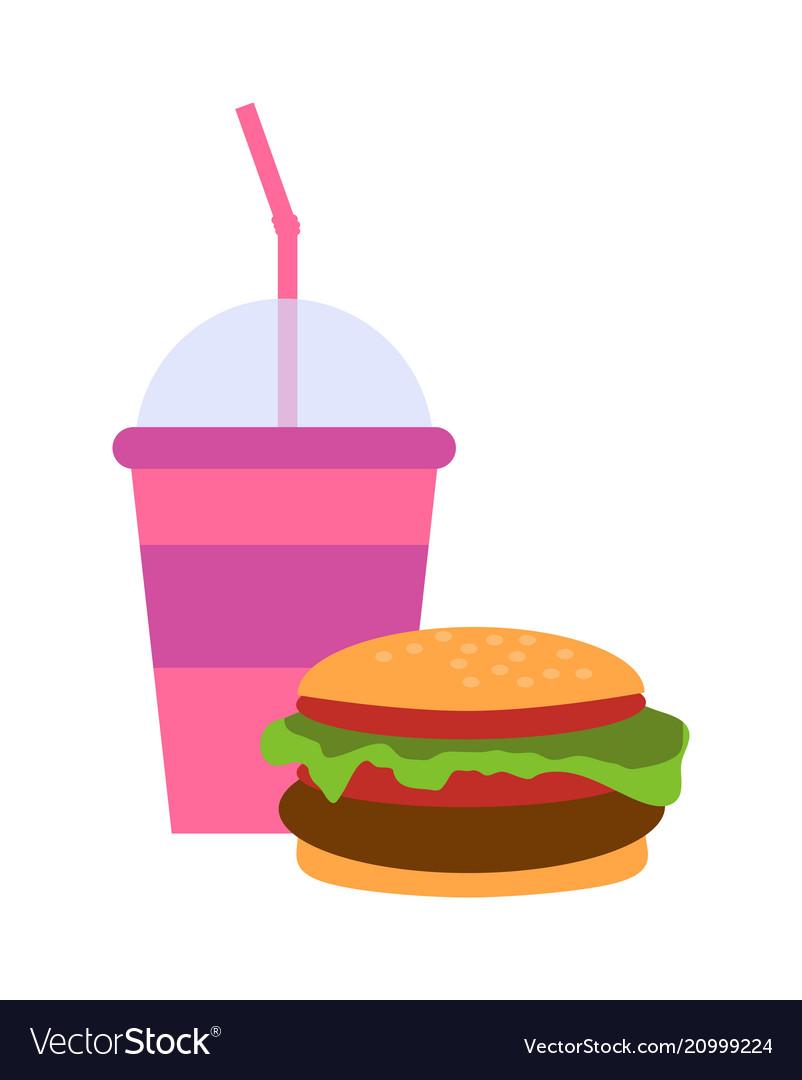 Burger and milkshake set