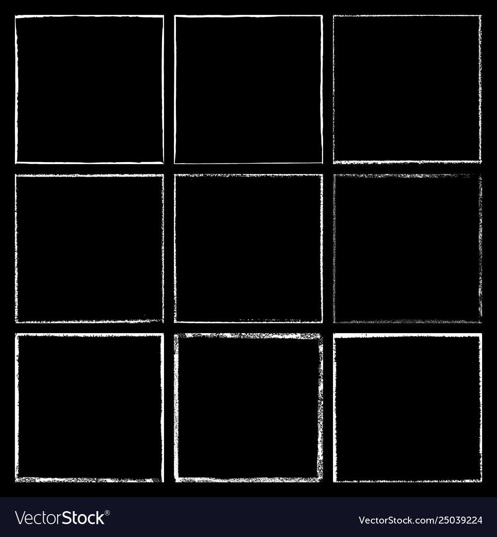 Chalked frame set black