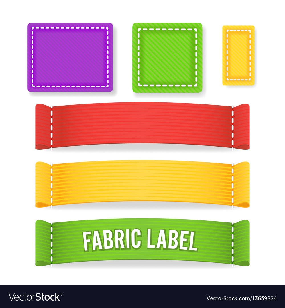 Color label fabric blank different sizes
