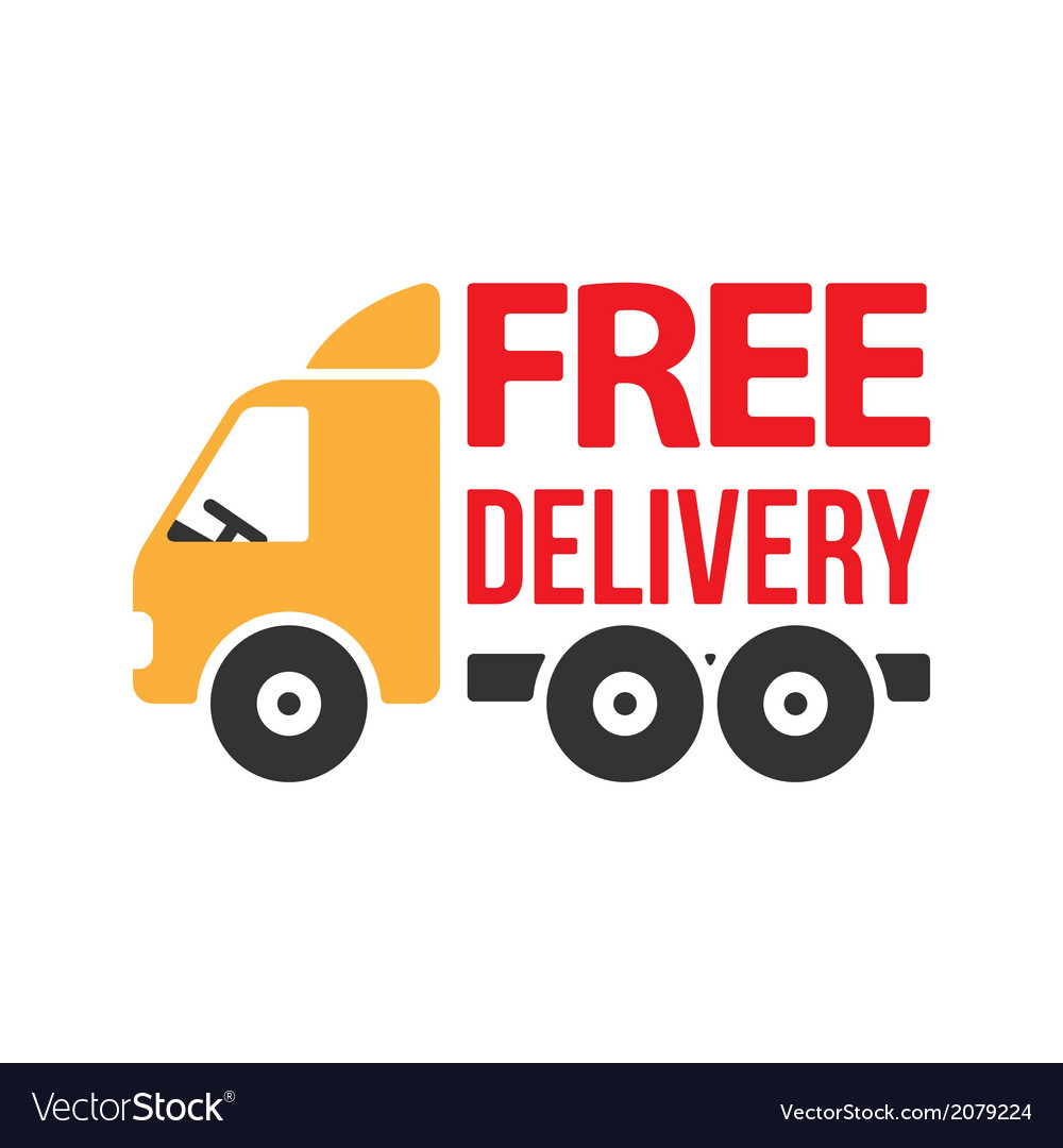 Free Delivery Icon Flat Style