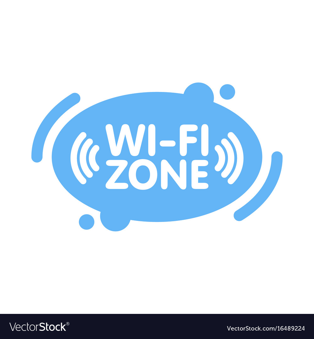 Free wi-fi zone sign in abstract line blue