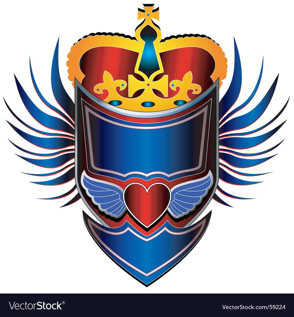 King shield vector image