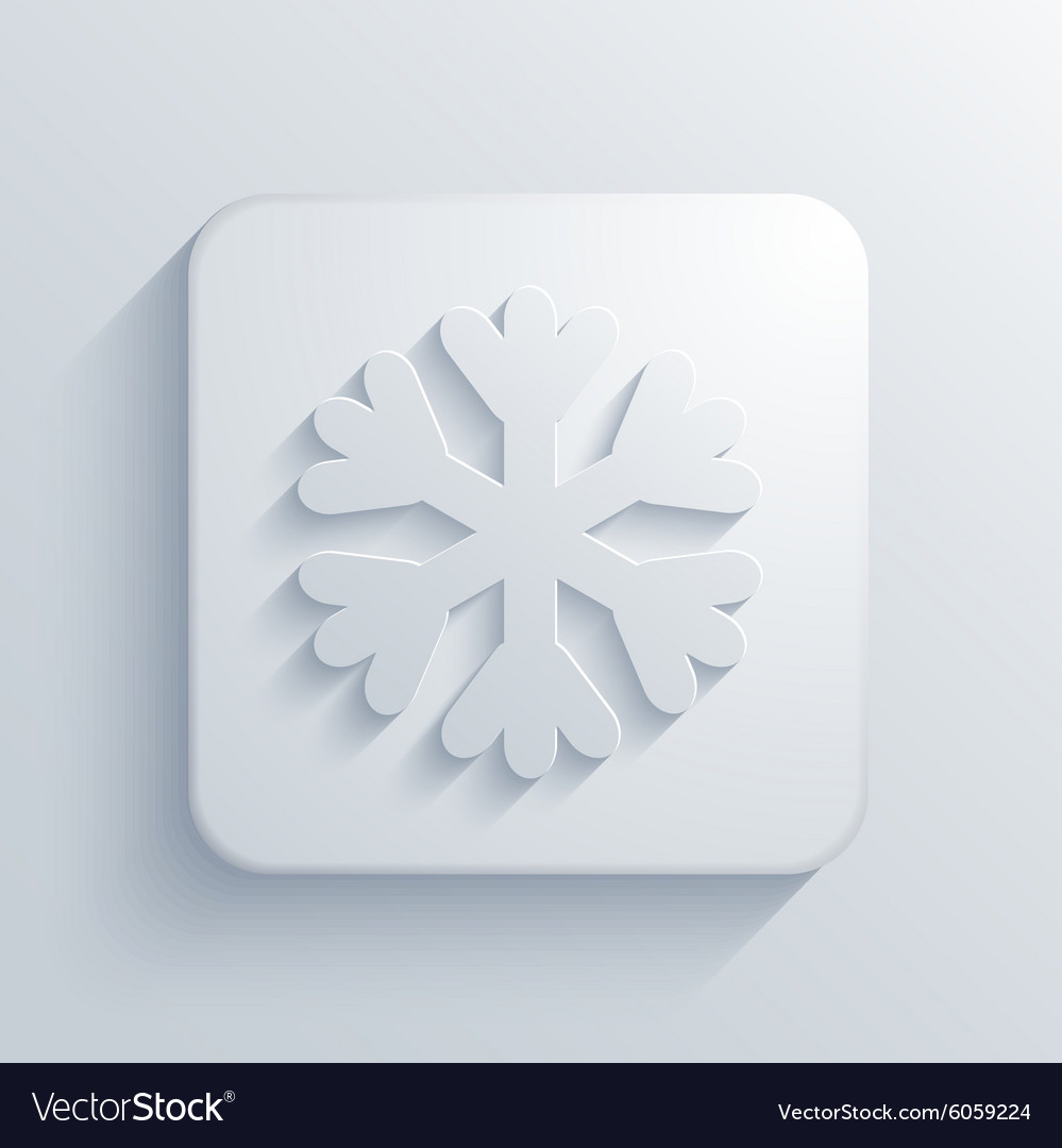 Modern snowflake light icon