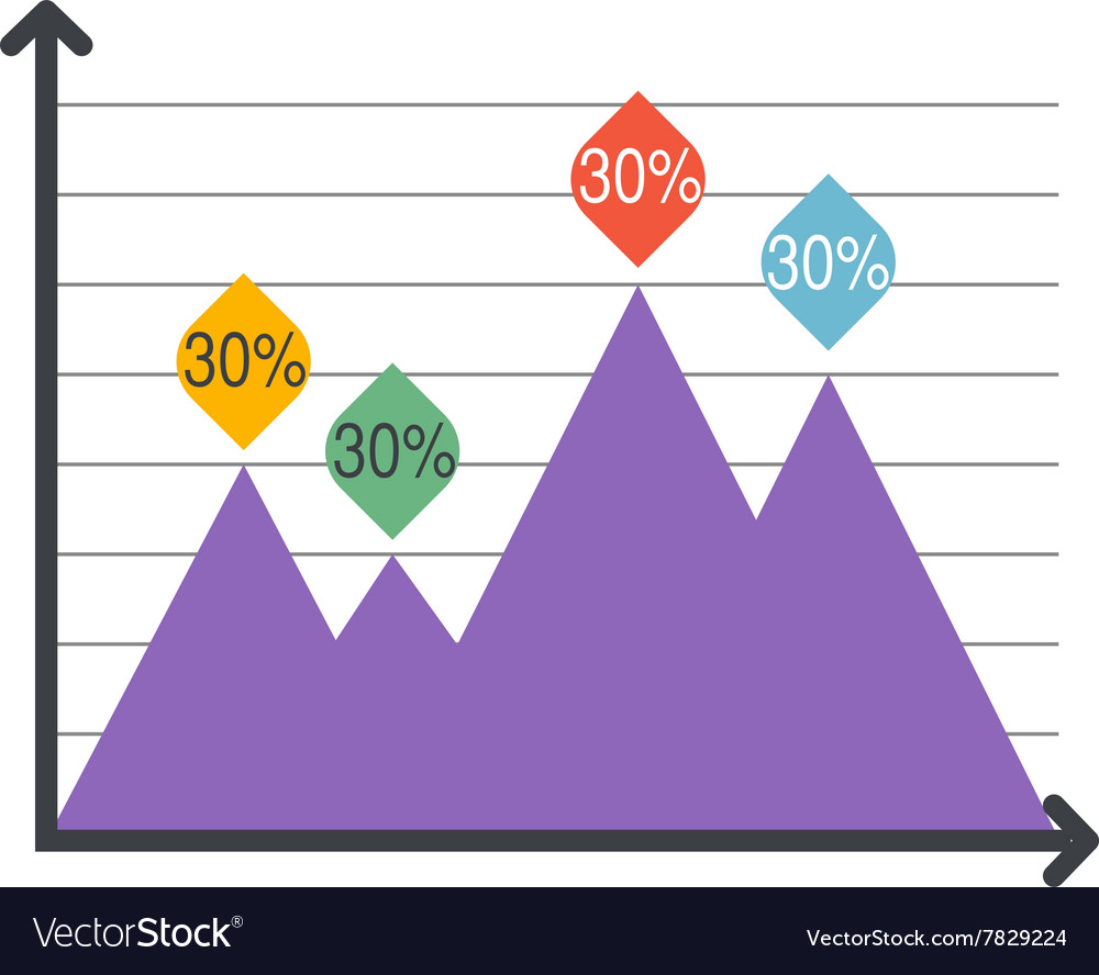 Triangle infographics Various business vector image