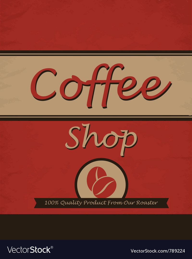 Vintage template design for coffee shop
