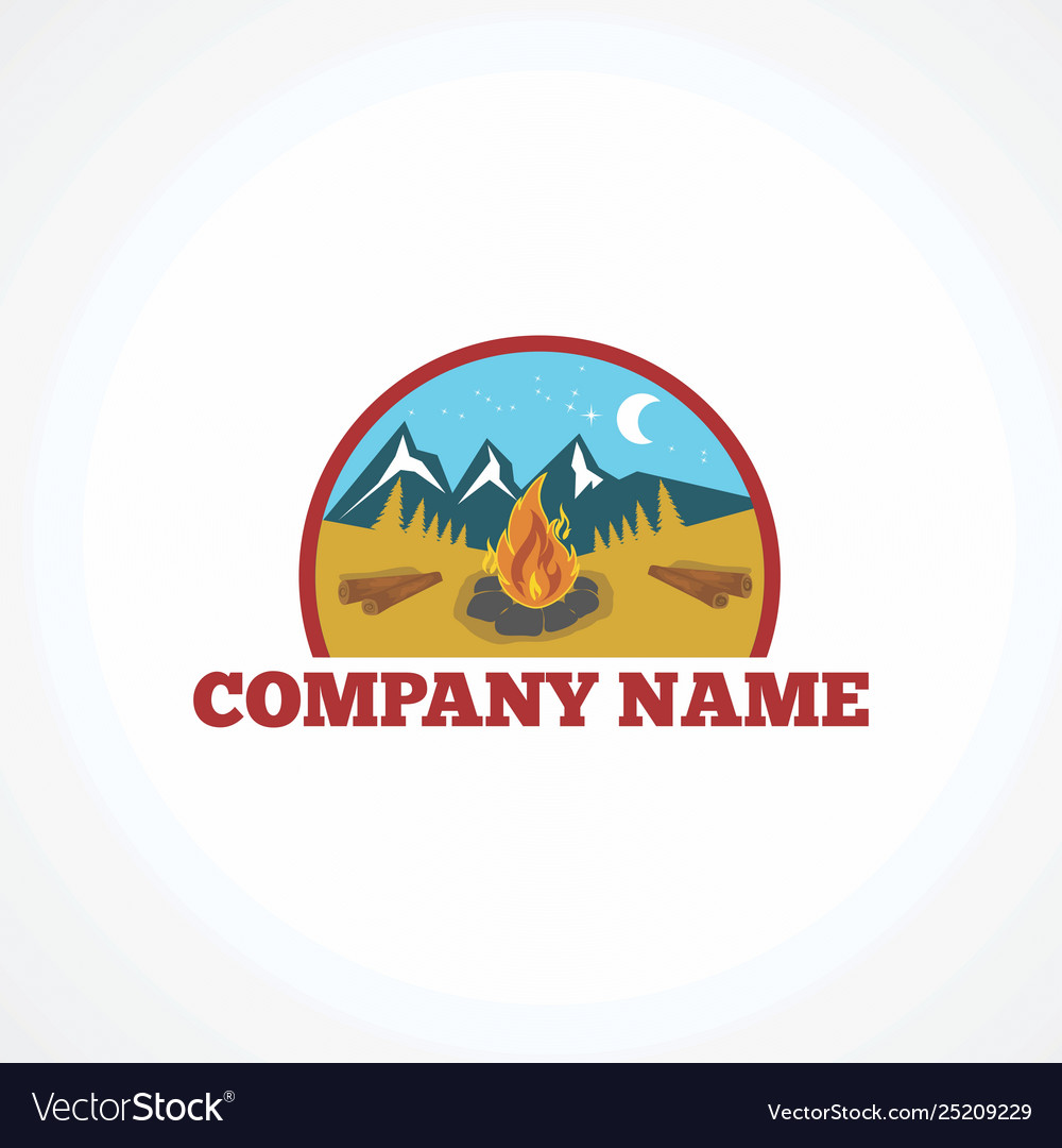 Camp logo icon element and template