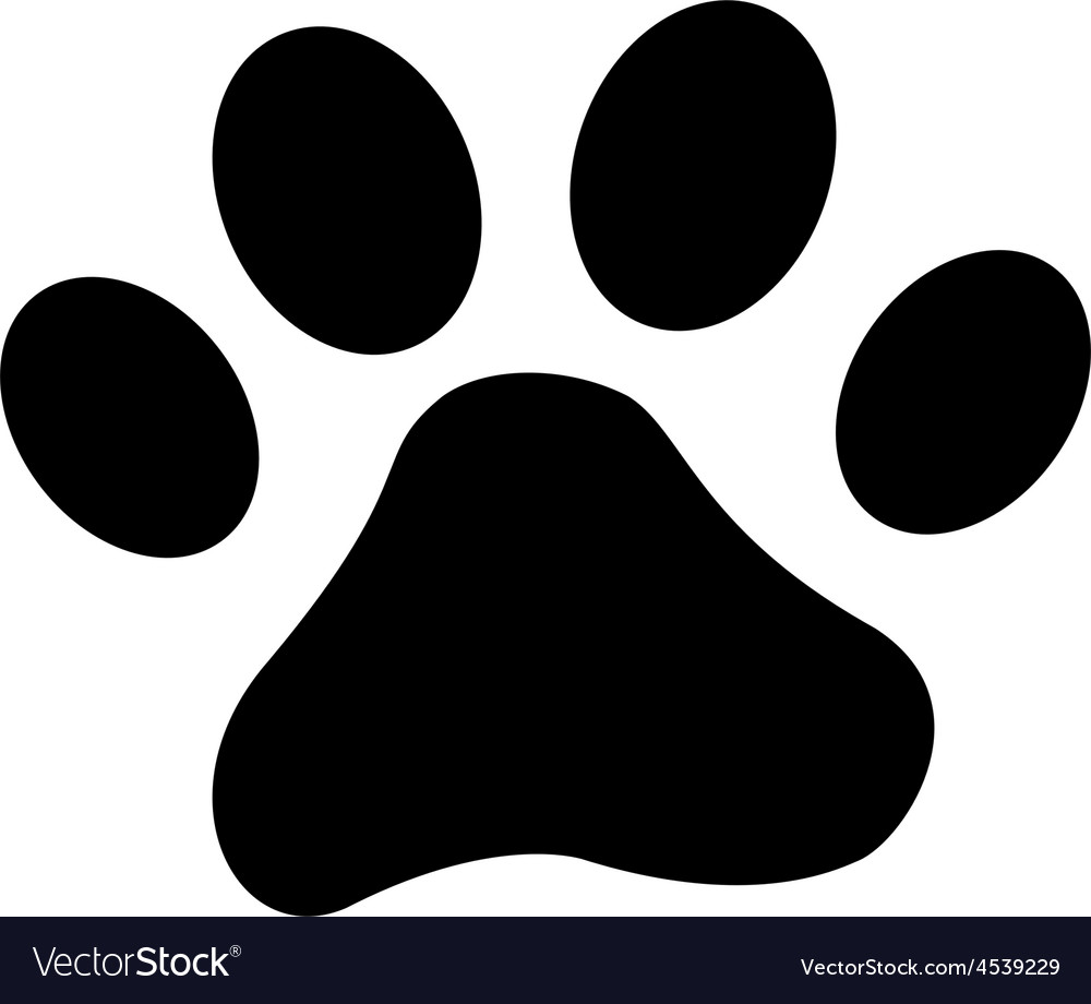 dog paw royalty free vector image vectorstock dog and cat clip art free dog and cat clip art cartoon