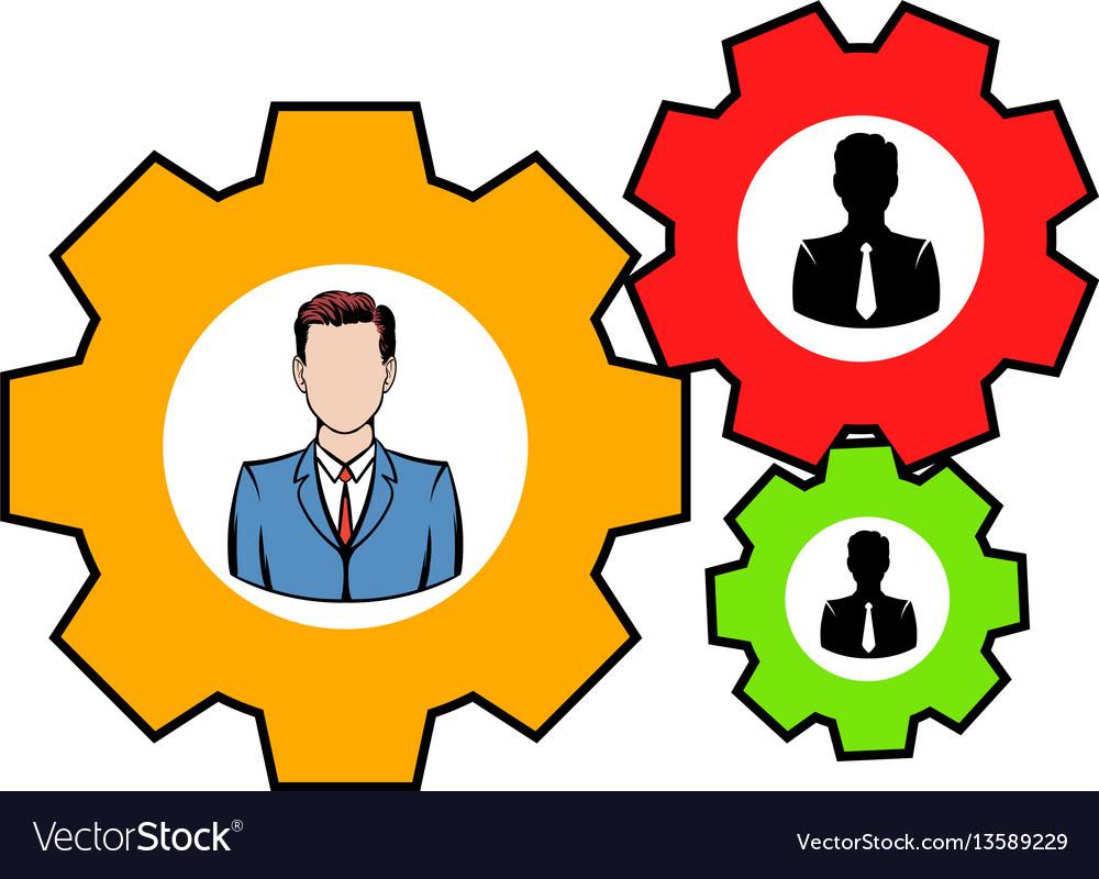 Human resources icon icon cartoon