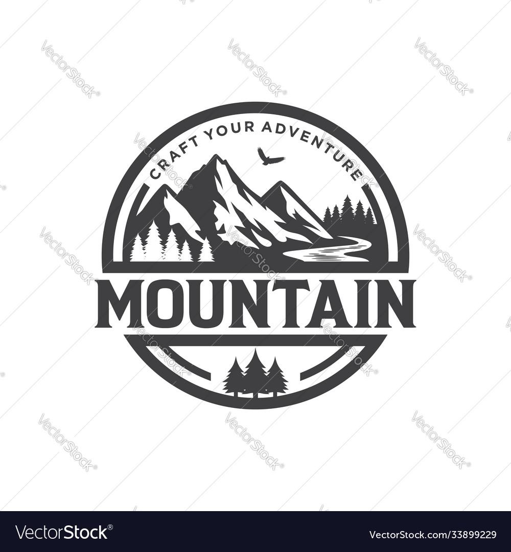 Mountains logo design template