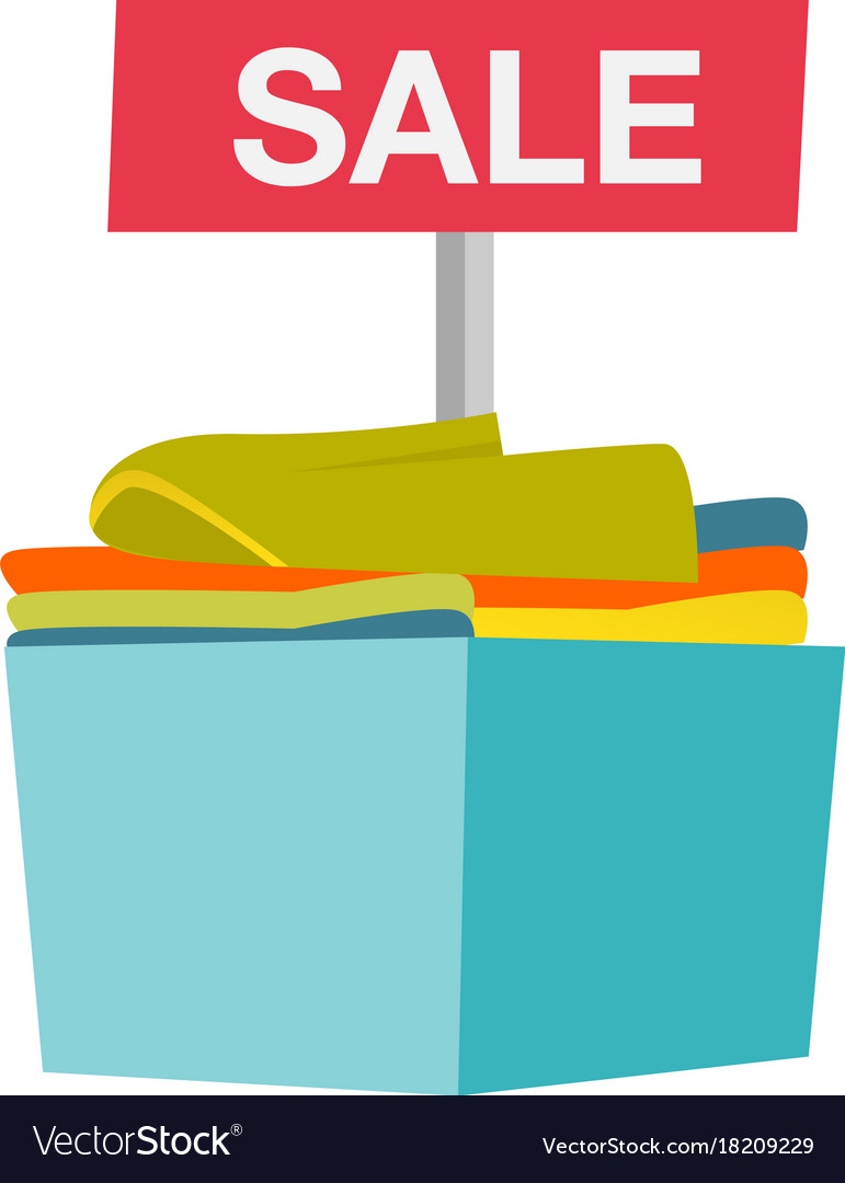 Sale at clothing store cartoon vector image