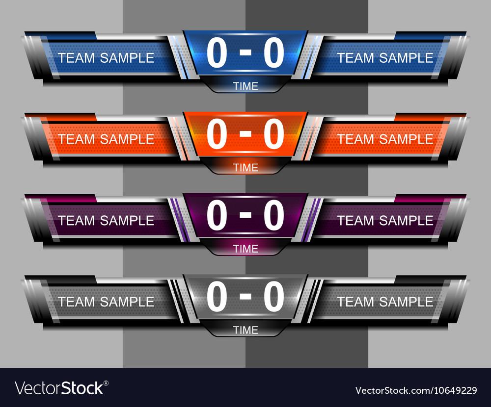 Template scoreboard sports