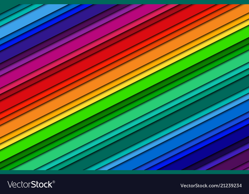 Abstract background with rainbow colors oblique