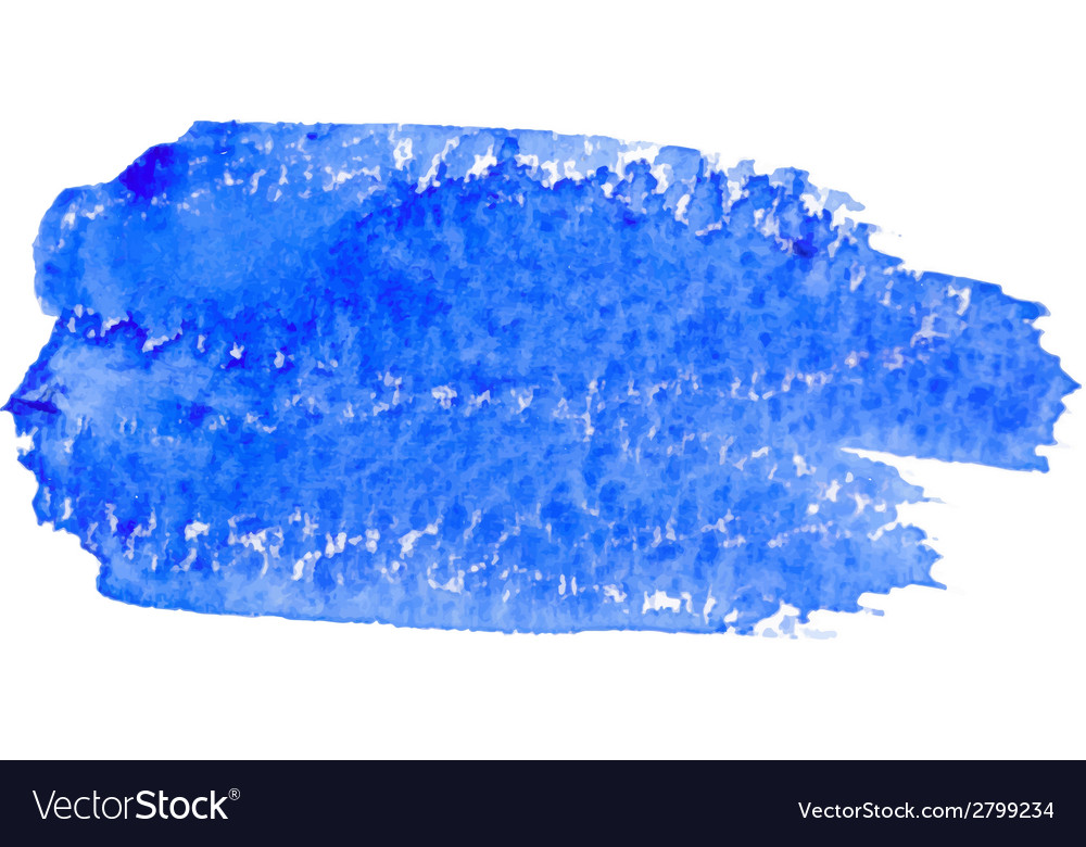 Blue Watercolor Brush Stroke