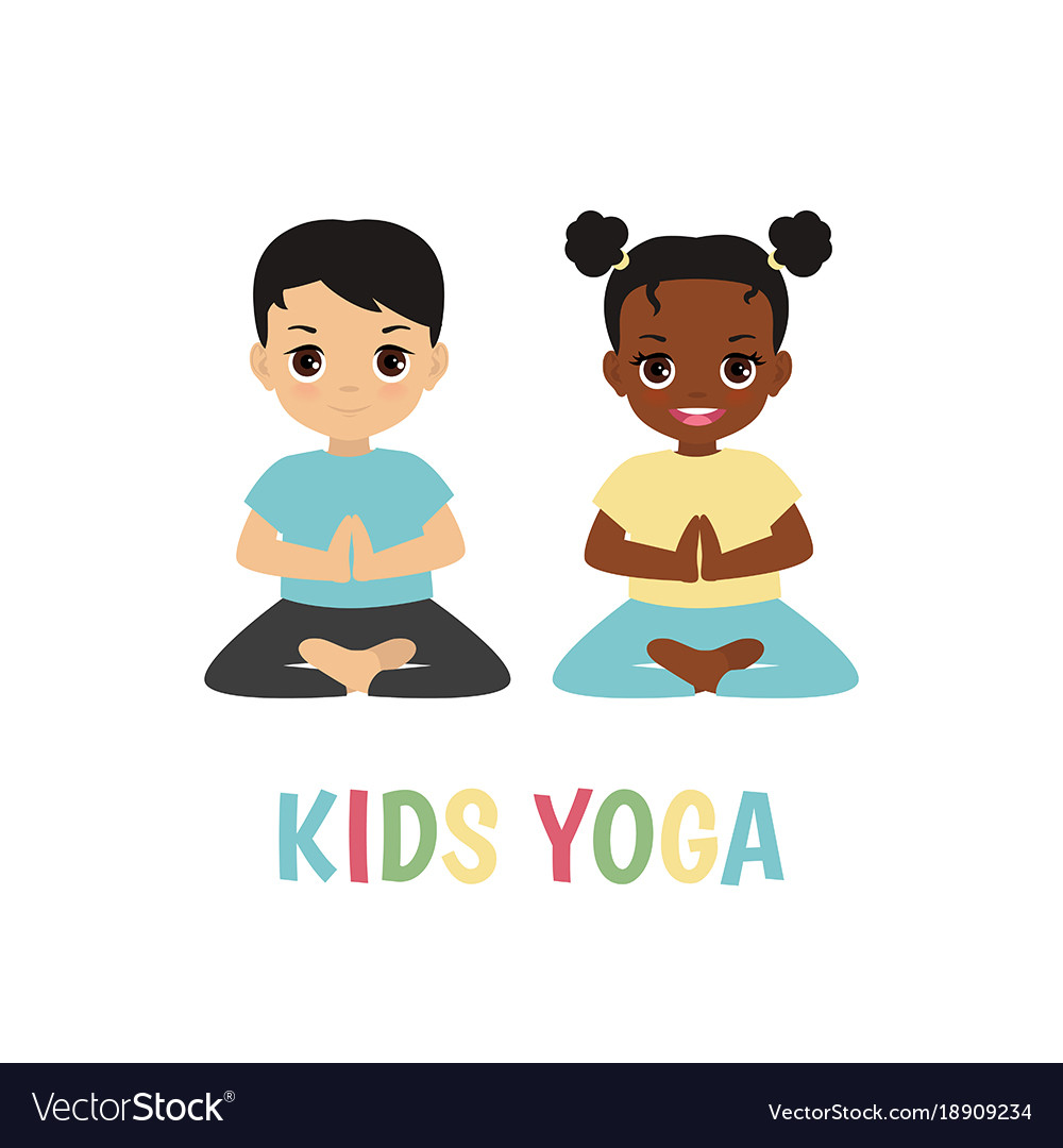 Children Yoga Logo Vector Image