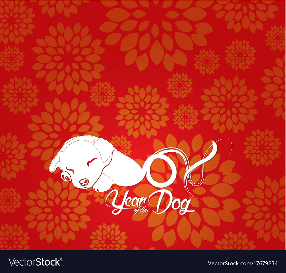 chinese new year 2018 plum blossom background vector image