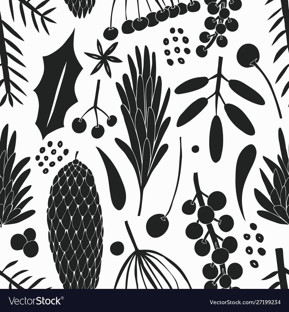 Christmas banner seamless pattern hand drawn