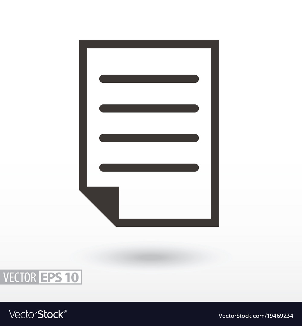 Document flat icon sign file