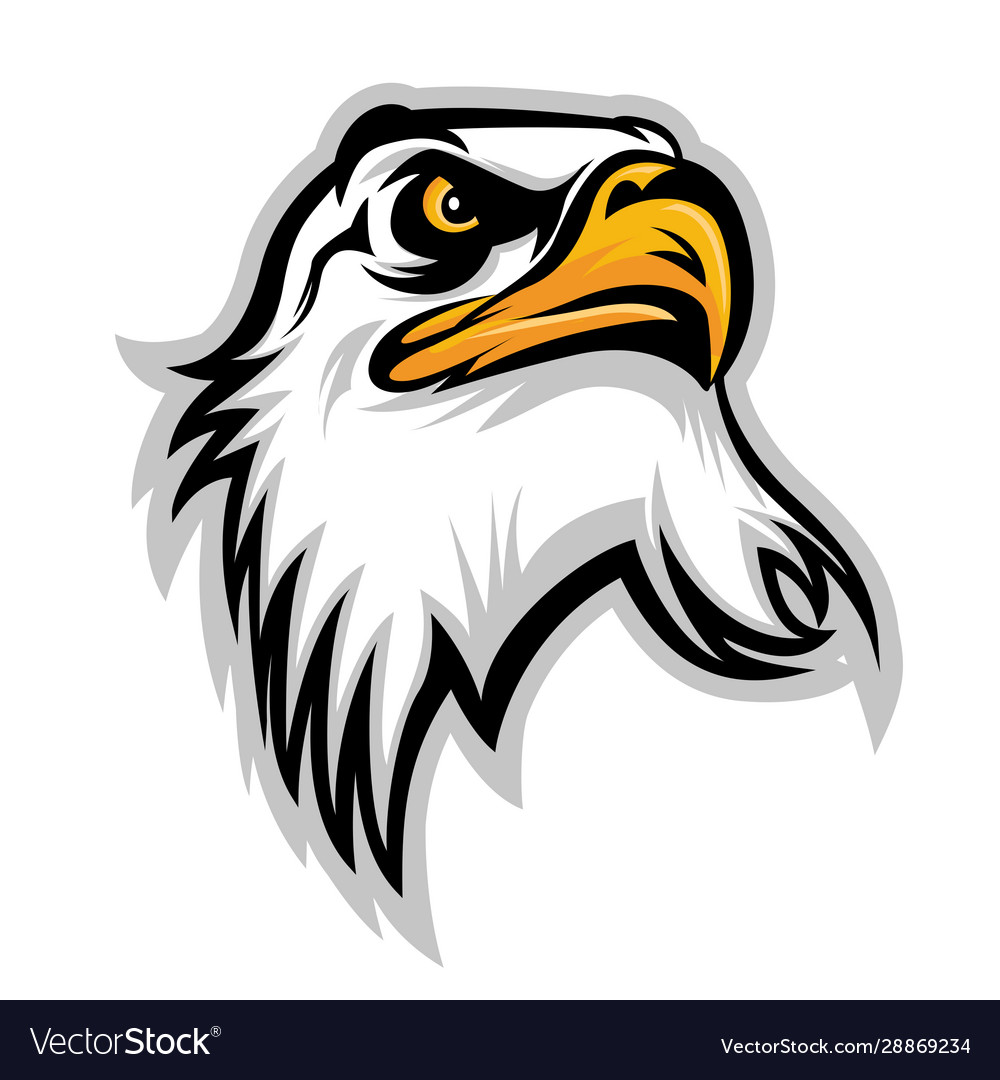 Hawk eagle head usa logo mascot 02