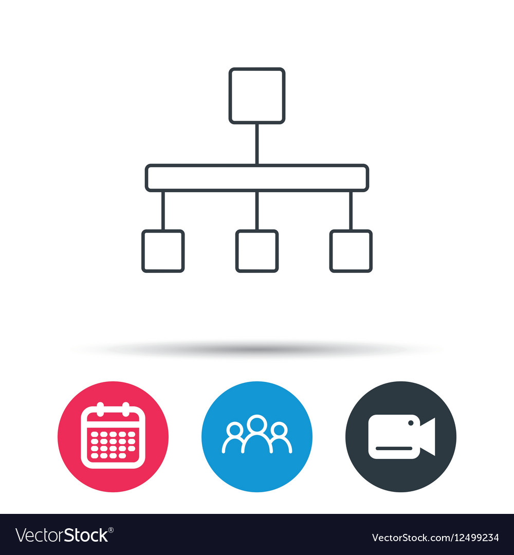 Hierarchy icon organization chart sign royalty free vector hierarchy icon organization chart sign vector image ccuart Image collections