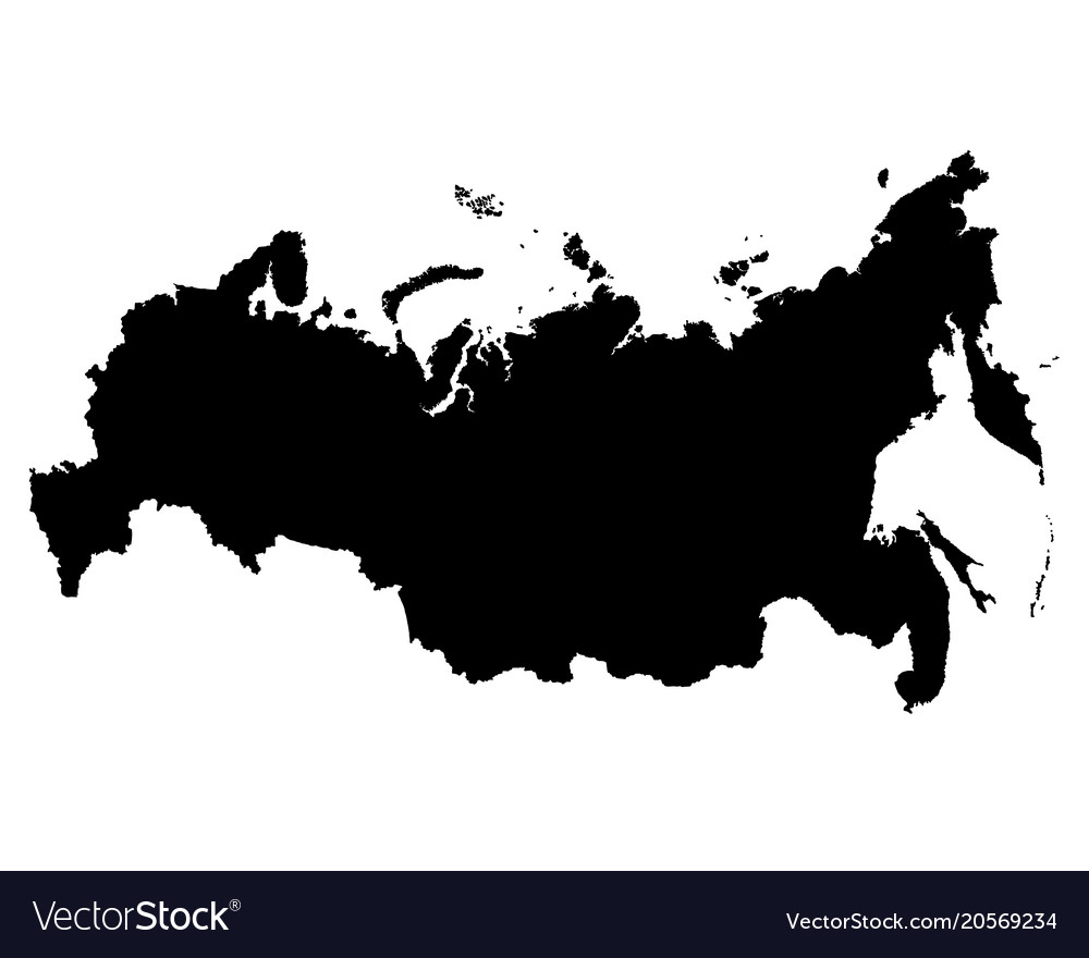 Map Of Russia Outline The Royalty Free Vector Image