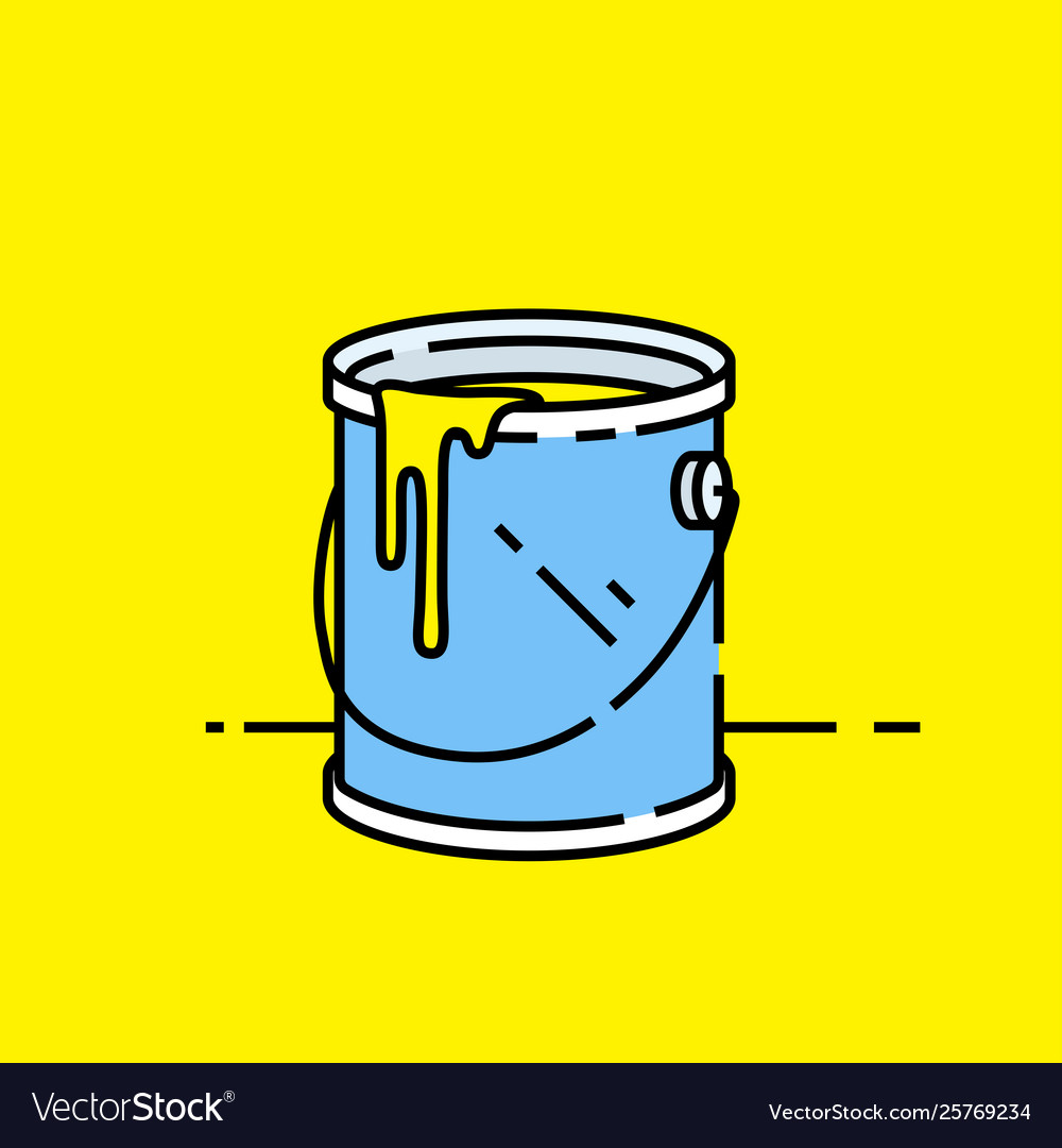 Open paint can icon