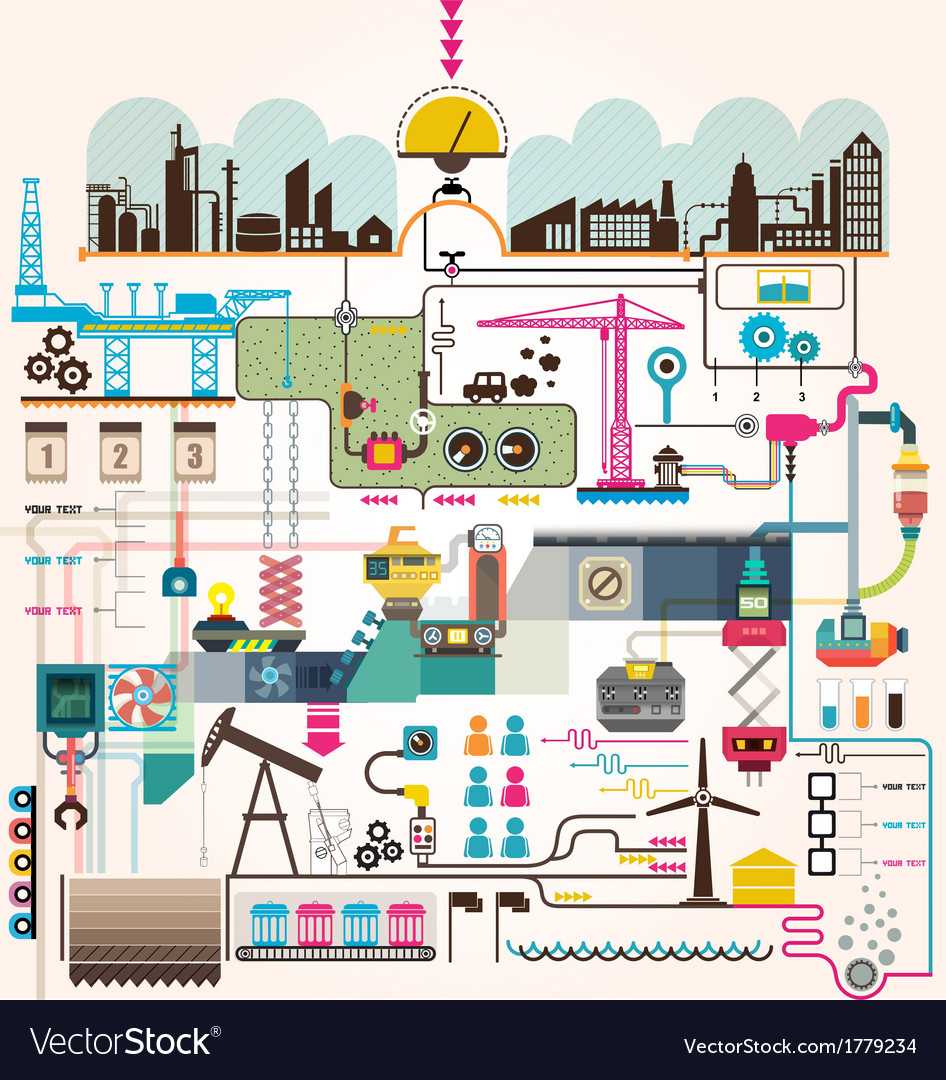 Set of factory infographics factory info graphics
