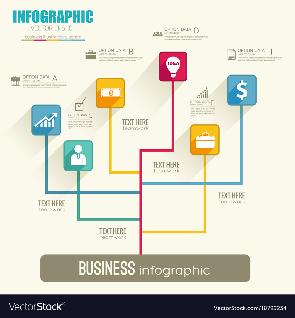 Flowchart Template | Web Infographic Flowchart Template Royalty Free Vector Image