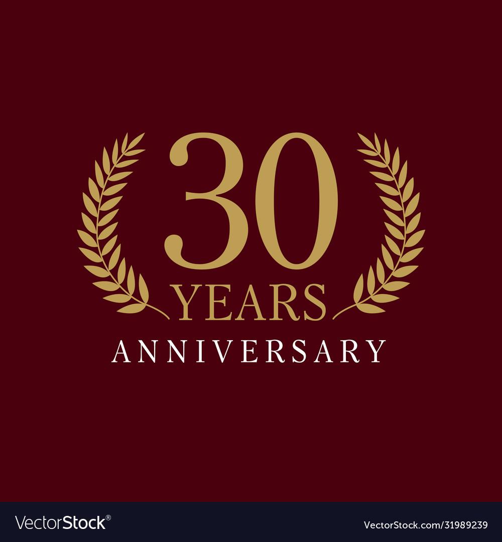 30 anniversary royal logo