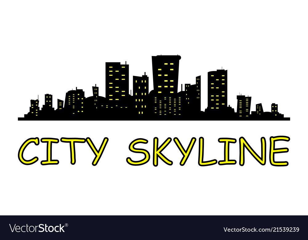 City skyline flat style