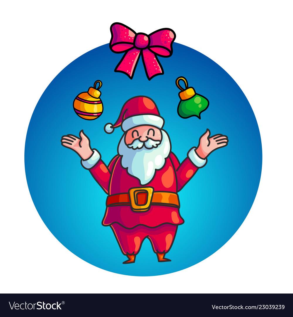 Cute santa claus character
